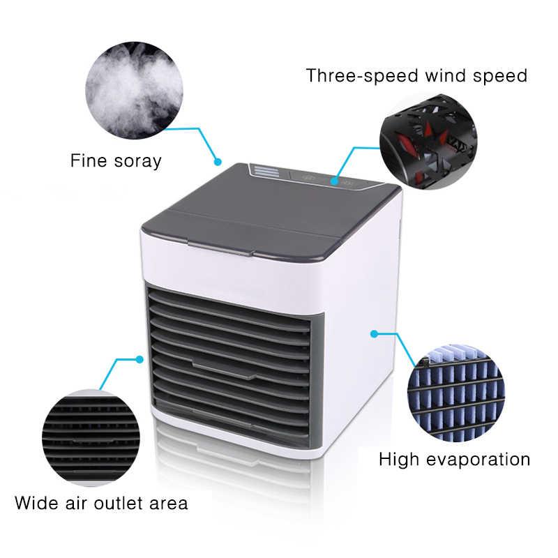 Новый Автомобильный Вентилятор охлаждения воздуха мини USB портативный кондиционер Встроенный светодиодный светильник Авто охладитель воздуха вентилятор автомобиля увлажнитель воздуха аксессуары