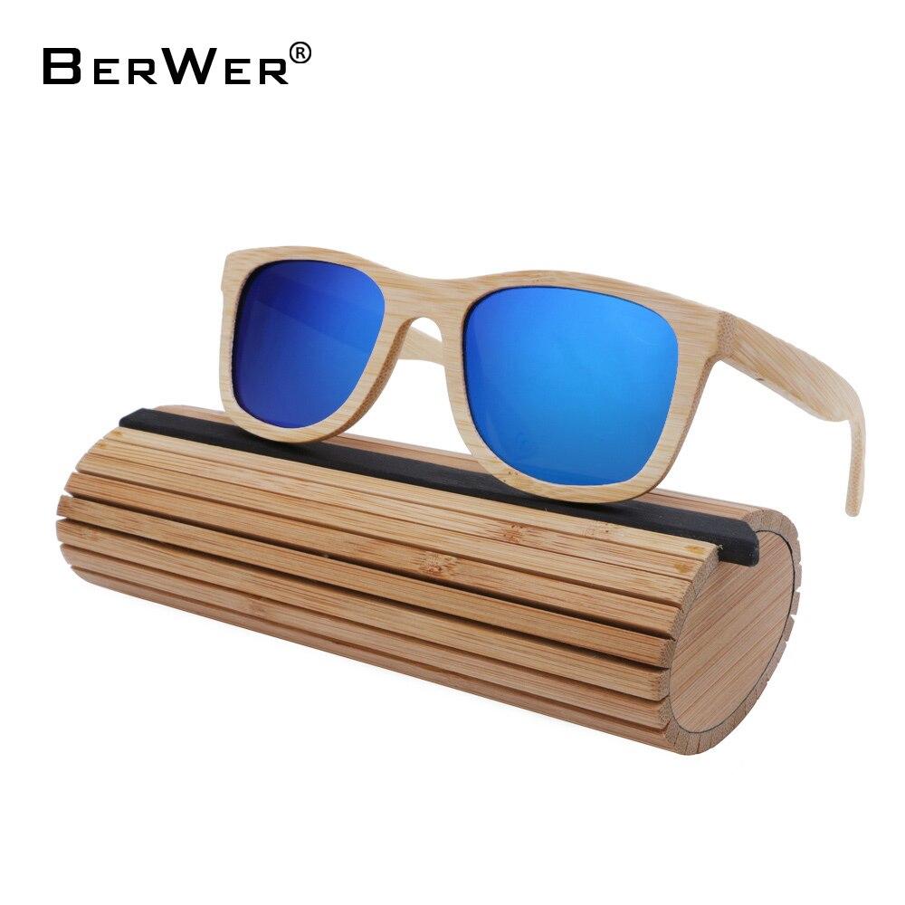 dad3544cf BerWer de óculos de sol de madeira de bambu óculos de sol das mulheres dos  homens novos de verão fresco