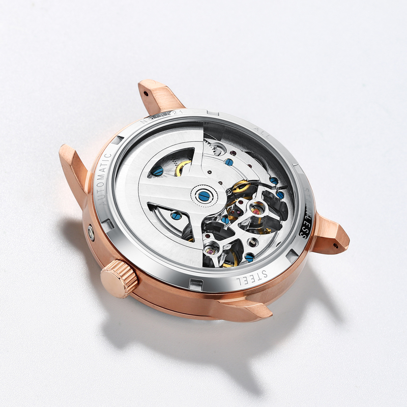 HAIQIN 2018 business watch men Automatic Luminous clock men Tourbillon waterproof Mechanical watch top brand relogio masculino in Mechanical Watches from Watches