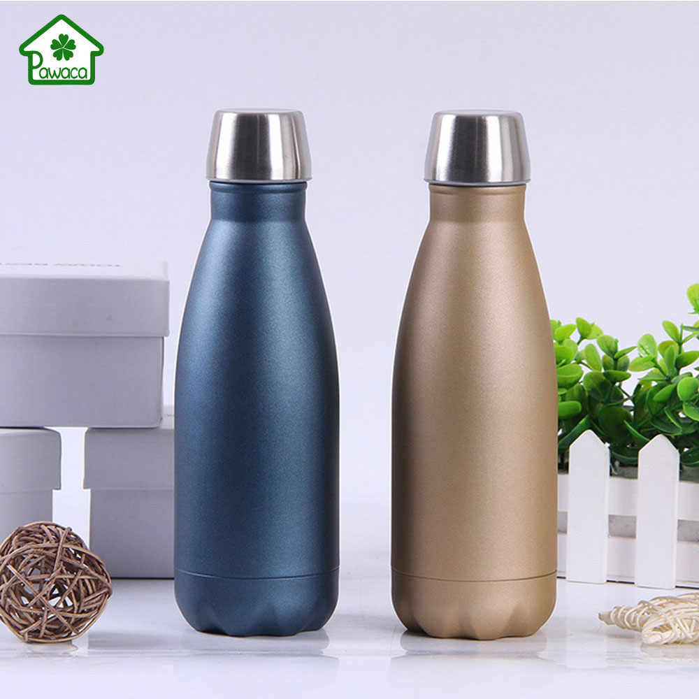 350ml Insulated Vacuum Water Bottle Portable Double Wall Stainless Steel Thermos Cola Bottle Coffee Cup For Travel Outdoor Sport