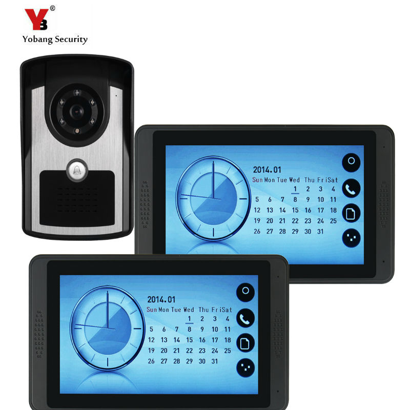 7Home Doorbell Intercom Unlock Funtion Touch Key LCD Monitor For The House Security COMS Camera Video Door Phone kits7Home Doorbell Intercom Unlock Funtion Touch Key LCD Monitor For The House Security COMS Camera Video Door Phone kits