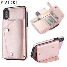 Fashion Wallet Flip PU Leather Phone Case For iPhone 8 Case XR XS Max Card Slot Stand Cover For iPhone X 10 6 6S 7 8 Plus Coque стоимость