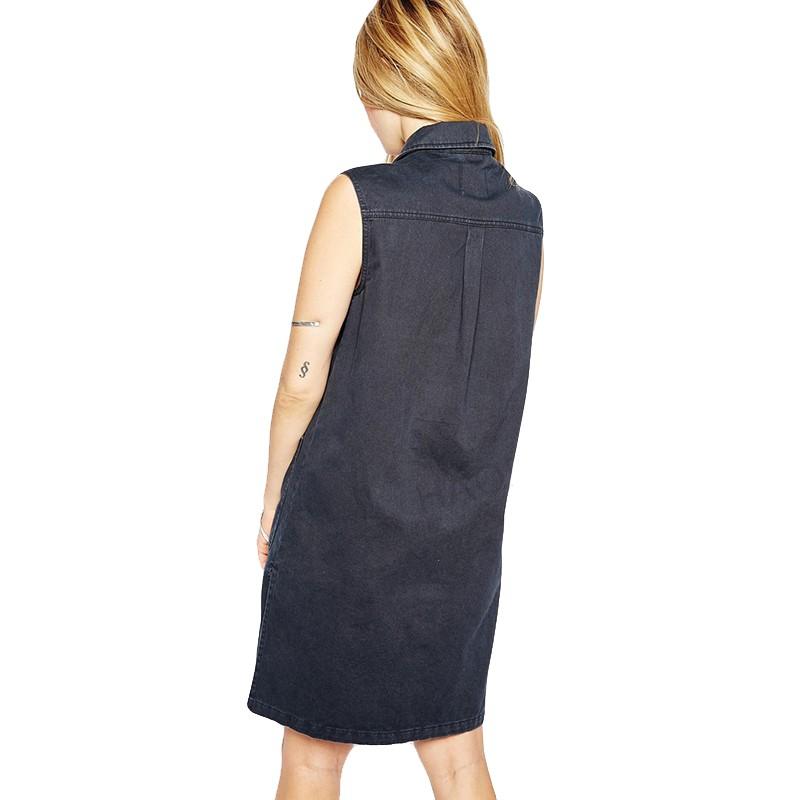 2015 New Fashion Women Denim Vest Punk Style Classic Four Pocket Vintage Woman Wild Sleeveless Long Vest Women Vest OutwearJT241 (4)