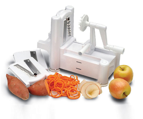 Hand cut vegetable device 3in1 slices DIY Kitchen tools 304 Stainless Steel Blades Peel Cut Strips Spiral Vegetable Slicer|Food Mixer Parts| |  - title=