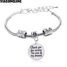XIAOJINGLING Trendy Bracelets Thank
