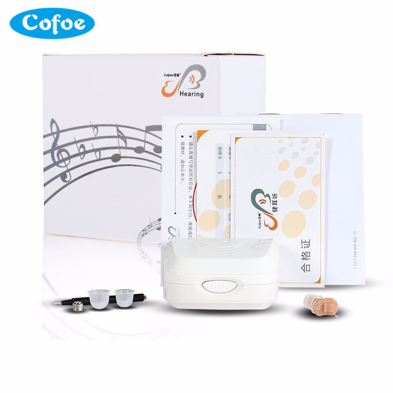 Hot Sale cofoe invisible Amplifier Hearing Aid Portable Small inner Ear simple box digital Hearing Aids Left ear 2017 hot sale golf miroir de formation mettre alignment eyeline new aid pratique formateur portable