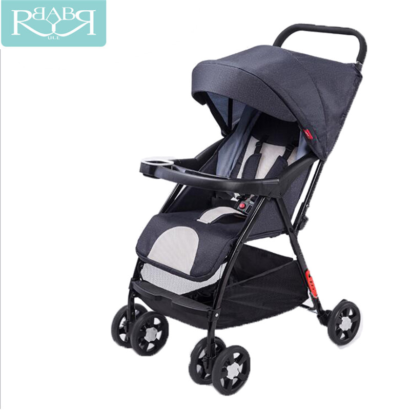 Babyruler Lightweight Portable Baby Stroller Foldable Baby Pram Pushchairs Kinderwagen Umbrella Car Can Sit Can Lie