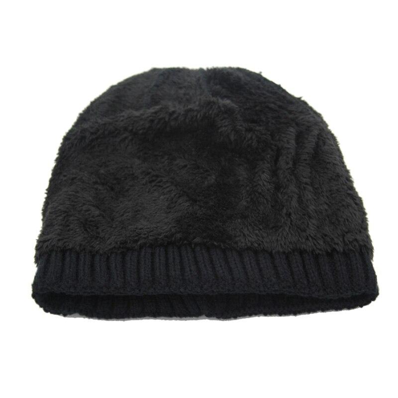 Xlamulu Fashion Men Skullies Beanies Knitted Hat Winter Hats For Women Plain Warm Male Gorros Bonnet Caps Thicken Solid Beanies 4