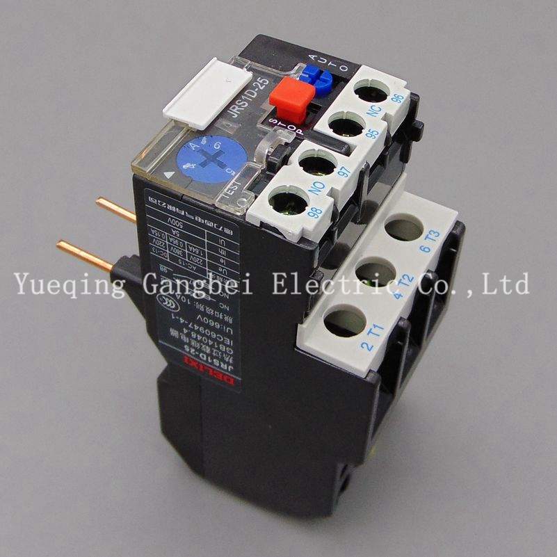 JRS1D-25 4-6A Thermal overload relay DELIXI relay jrs1d 25 7 10a thermal overload relay delixi