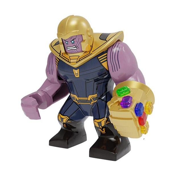 Série Vingadores Marvel Super heroes Homem De Ferro veneno Thanos Grande Boneca Figuras de Ação Building Blocks Para crianças Presentes de Natal