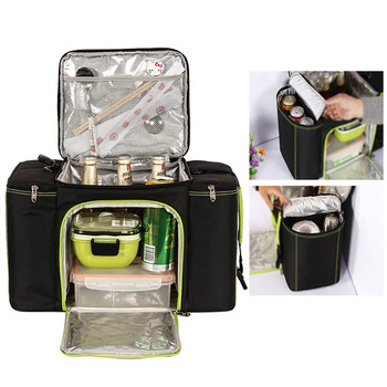 Vehicle Soft Cooler Bags Picnic Packs Three Insulated Compartment Waterproof Tote Camping Food bags