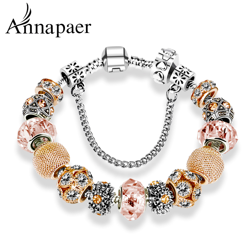 aliexpress buy annapaer gold charm bracelets
