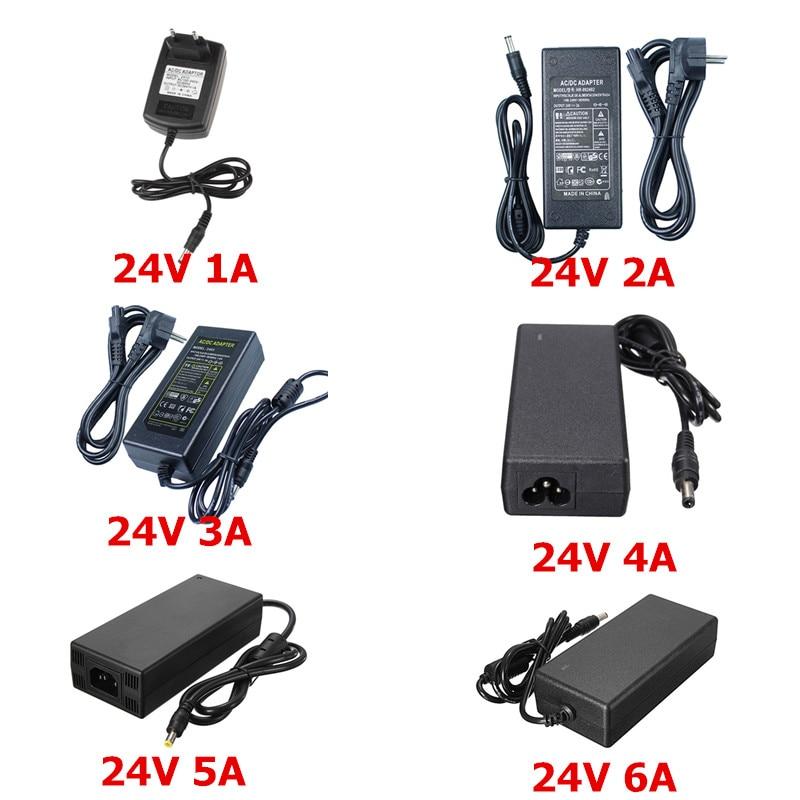 Најновији 24В напајање АЦ 100 / 240В до 24В 1А 2А 3А 4А 5А 6А Трансформатор ЕУ амерички адаптер за 24В 5050 3528 ЛЕД траку