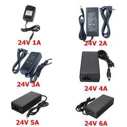 2018 Newest 24V Power Supply AC 100/240V to 24V 1A 2A 3A 4A 5A 6A Transformer EU US Adapter For 24V 5050 3528 Led Strip Lamp