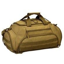 Купить с кэшбэком Men's Vintage Travel Bags Large Capacity Canvas Backpack Luggage Daily Handbag Bolsa Multifunction luggage duffle bag