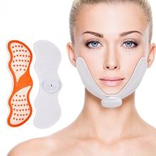 EMS Массажер для подтяжки лица, электрическая стимуляция нерва, для похудения, двойной подбородок, силиконовый стимулятор мышц