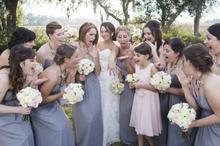 Simple Grey Plus Size Bridesmaid Dresses Vestido Festa Cheap Plus Size Party Dresses Vestidos De Madrinhas