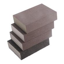 цена на 100mm x 70mm x 26mm Drywall Polishing Sanding Sponge Block Sandpaper Sander Tool 120 180 320 800 Grit