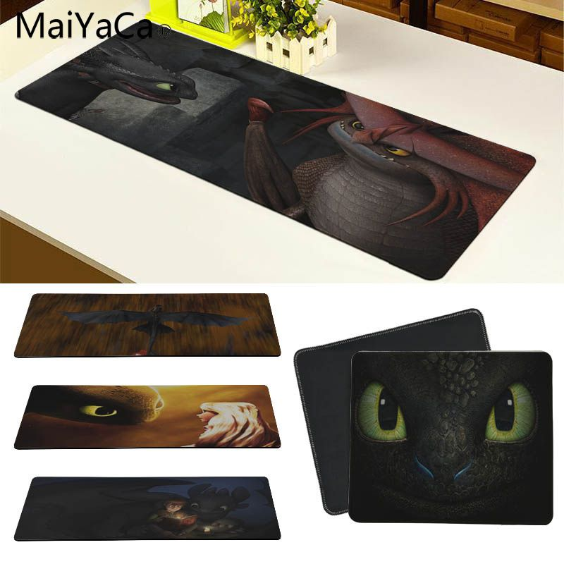 MaiYaCa  How To Train Your Dragon Toothless Comfort Mouse Mat Gaming Mousepad Size For 30x70cm And 30x90cm Gaming Mousepads