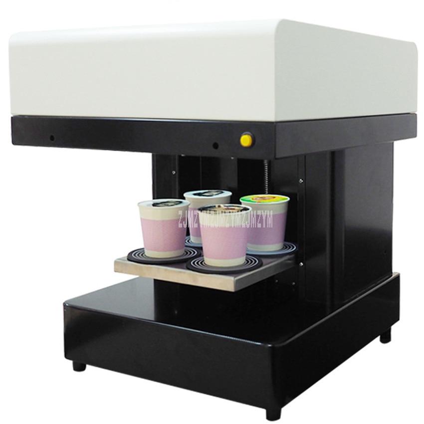 Art Coffee Drinks Printer Fast Speed 4 Cups Selfies Coffee Printer Milk tea Yogurt Cake Electric Printing Machine 220V/110V 46W