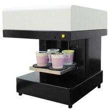 Книги по искусству принтер пищевой быстрая скорость 4 чашки селфи кофе принтер молоко чай йогурт торт Электрический печатная машина 220 В/110 в 46 Вт