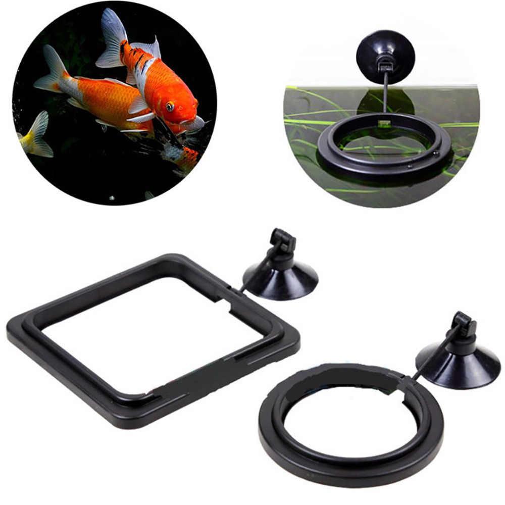 ให้อาหารปลา Aquarium Fish TANK สถานีป้อนแหวนลอยอาหารน้ำลอยวงกลม 1pcs แหวนให้อาหารปลา