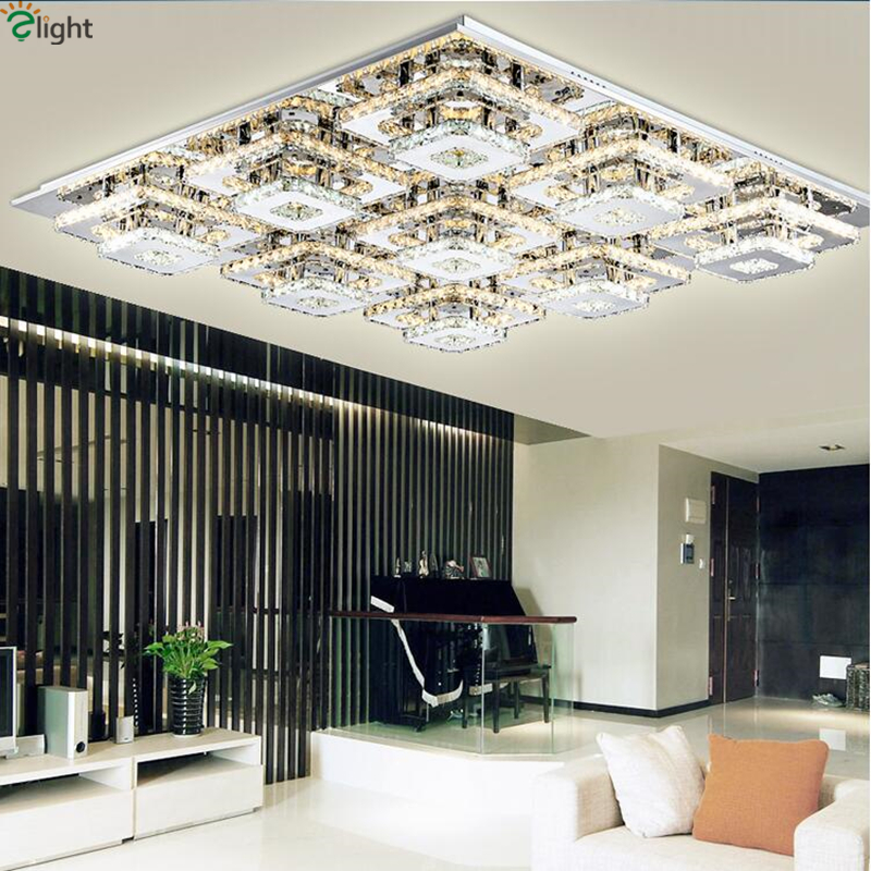 9 Light L103 W103cmDimmable Led Chandelier By Remote Controller Double Chrome Steel Crystal Rows Lustre De Chandelier For Foyer|led chandelier|chandelier led|chandelier chandelier - title=