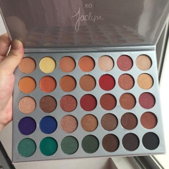 35 colori di Ombretto Tavolozze maquillaje Trucco minerale La Jaclyn Hill ombra di occhio di Luccichio e Opaco Cosmetici