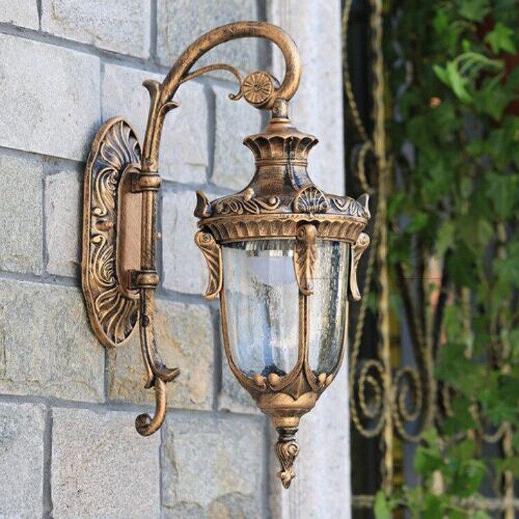 Outdoor Light Bulb E27 Luxury Wall Sconces Lamp Lamps Waterproof Vintage Garden Street Led 220V Lighting Villa Balcony Lamp