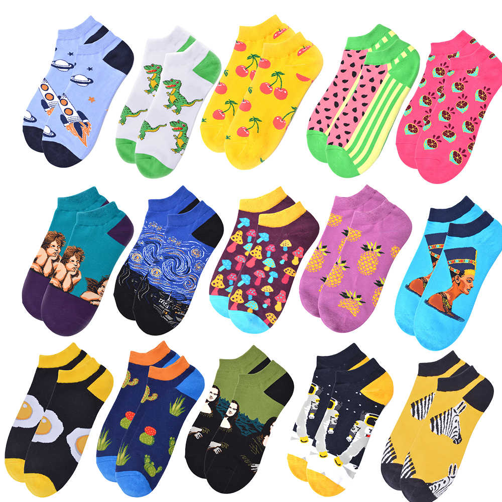 Spring Asymmetry Ab Funny Cute men Cotton Socks Harajuku Kawaii Female Hosiery Colour Fashion Dynamic Popular Tide Brand