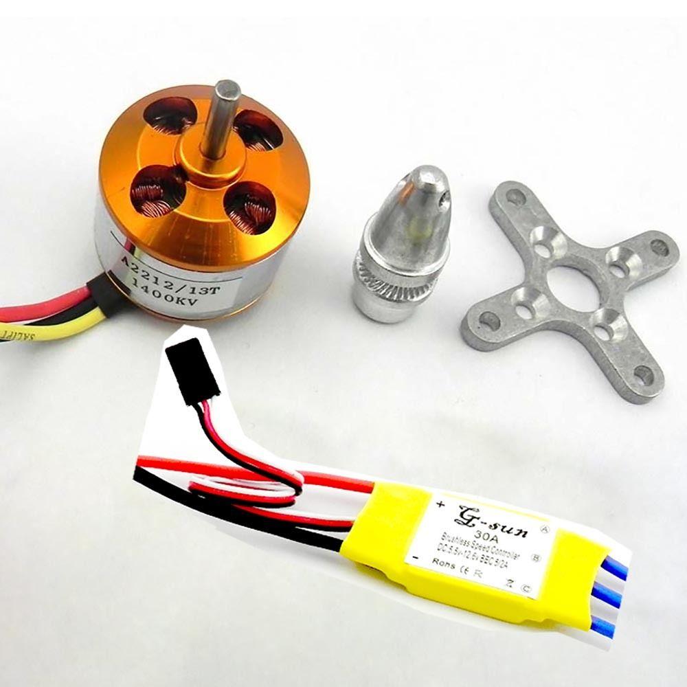 30A Controller ESC+1400KV/1000KV/930KV Brushless Motor A2212/6T for 4 Axis Multi Quadcopter kv rezac 15935004