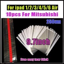 10 pces 7.9 / 9.7 polegada oca filme adesivo claro óptico para ipad 1/2/3/4/5/6 adesivo de cola dupla lateral para ipad mini lcd refurbish