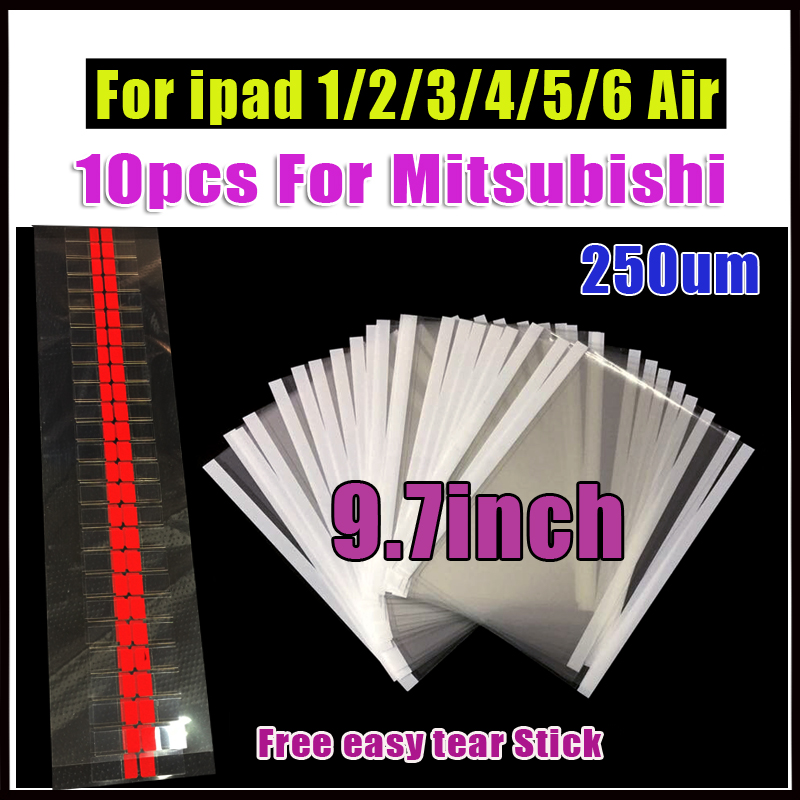 10Pcs 9.7 inch OCA Optical Clear Adhesive Film For iPad 1/2/3/4/5/6 Double Side Glue Sti ...