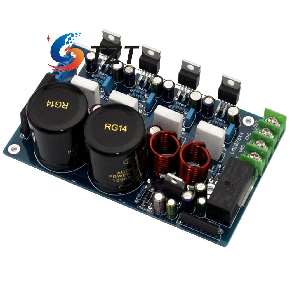 Power Amplifier Board Lm1875 Paralleling 20 50w Audio Amp For Irs2092 Class D Circuit Lm1036 Tone Controlled Diy