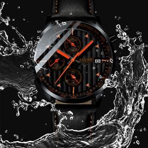 Image 2 - Mens Watches Top Luxury Brand Mens Wristwatch Clock Fashion Quartz Watch Men Sports Waterproof Watches Male Chronograph Clock