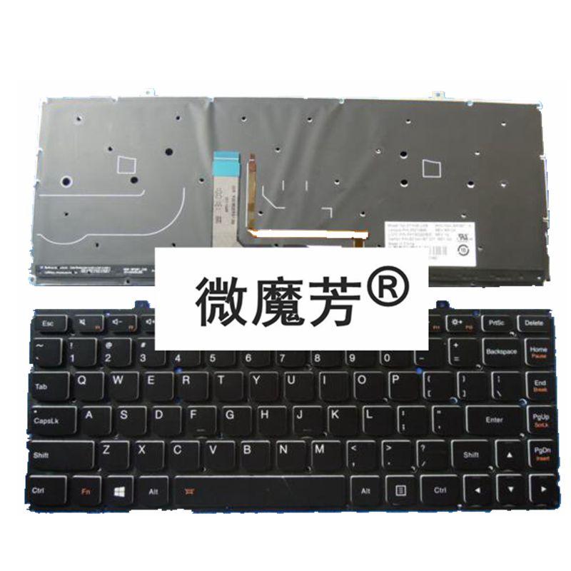 US Laptop Keyboard for Lenovo Ideapad Yoga 2 Pro 13 backlit Yoga2 Pro13-ISE new laptop keyboard for lenovo ideapad yoga 2 pro 13 serie spanish french belgian uk irish arabic korean canadian french