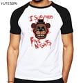 Hot cartoon game tops tees Cotton casual shirt Freddy Fazbear's Pizza T shirt for men and women short sleeves men's t-shirt