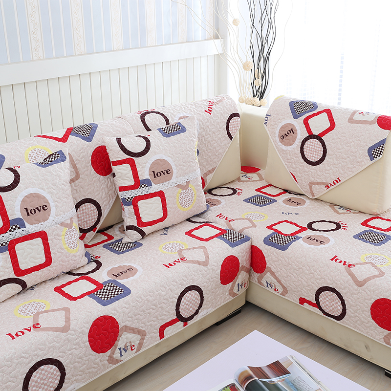 1 Piece Top Quality Sofa Cover High Slip resistance Modern Slipcovers Non slip Luxury Cotton Quilt Corner Sectional Couch Covers in Sofa Cover from Home Garden
