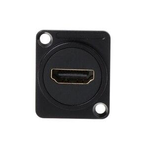 Image 4 - Neue HDMI D typ RJ45 Buchse Netzwerk Stecker Chassis Panel Montieren Audio Stecker Metall HD Kabel Cat5e Cat6