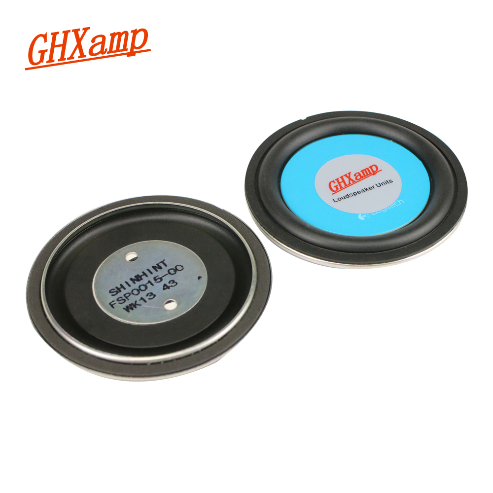 GHXAMP 3 Inch Woofer Radiator Bass Passive Speaker Rubber Edge 78MM Low Frequency Radiator For 2-5 Inch Speakers DIY 2pcs