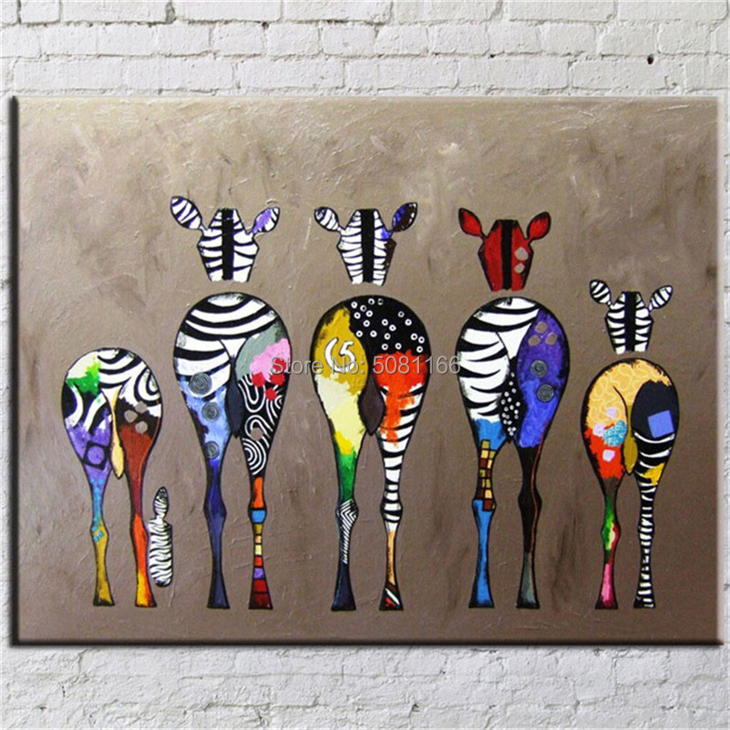 Hand Painted famous zebra Oil Painting On Canvas american Pop Art Modern Abstract Wall Picture For Decoration artwork gift