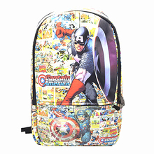 Captain America Iron Man Deadpool Backpack Spider Man Star Wars High-Capacity Relaxation Bag Men and Women Small Backpack