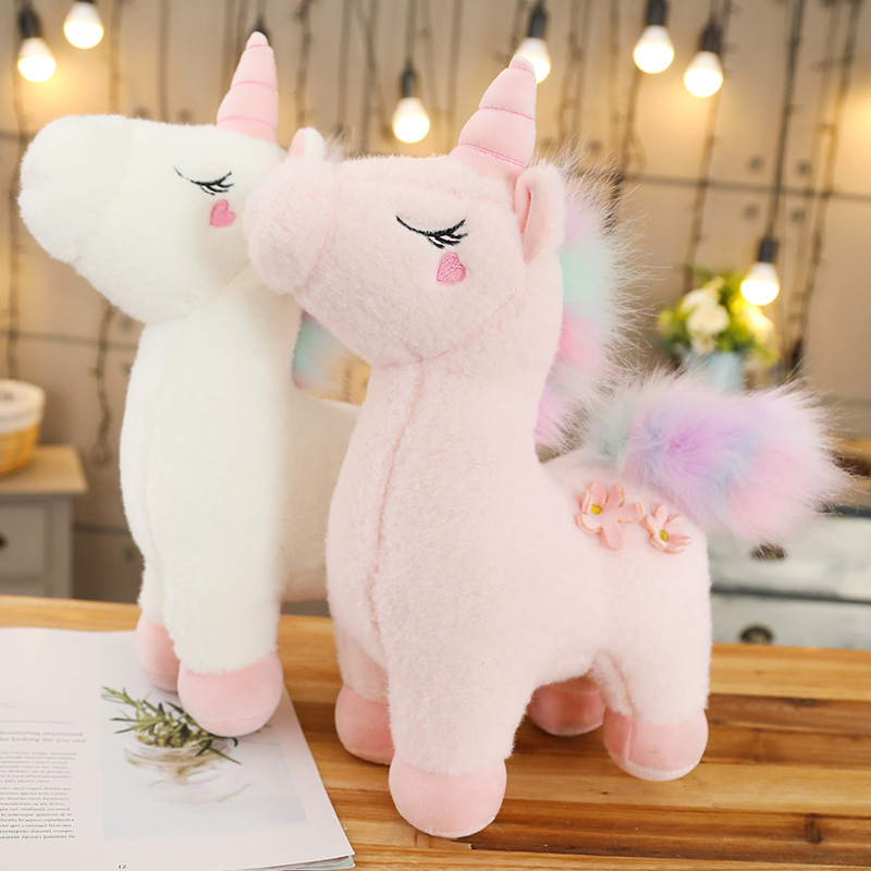 130cm Jumbo White Pink Unicorn Plush Toy Giant Unicorn Stuffed Animal Horse Toy Unicornio Peluche Doll Gift Children Photo Props