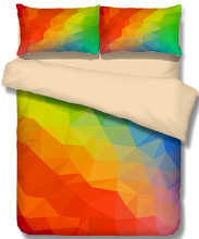 Rainbow diamond Fashion Design 3D Bedding Set  Print Duvet cover set Twin queen king lifelike bed sheet #2