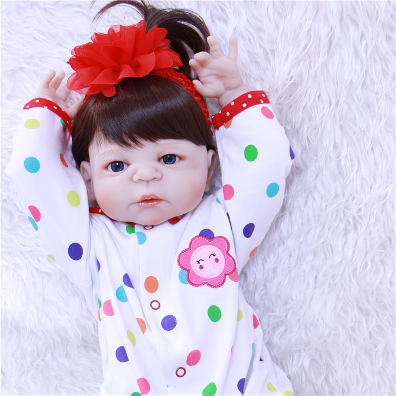 22 Full Body Silicone Reborn baby Doll Toy reborn babies toys for child  Birthday Gift Present Lovely bebe girls reborn boneca эмульсия the face shop olive essential emulsion
