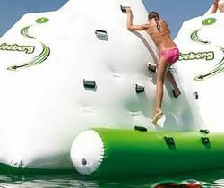 Надувная игрушка для скалолазания, аквапарк, игровой летний Размер 6*6*5 м, водный Айсберг
