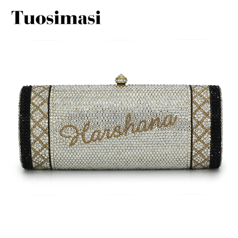 Name custom crystal crossbody chain bag women handbags evening clutch bag for wedding party gift bag(1000BG) women custom name crystal big diamond clutch crossbody chain bag women handbags evening clutch bag 1001bg