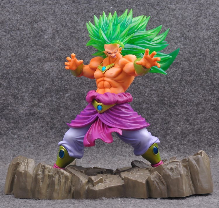 Dragon Ball Z Broly Super Saiyan 170mm Anime Dragon Ball Model Toy PVC Action Figures Esferas Del Dragon Son Goku цена и фото