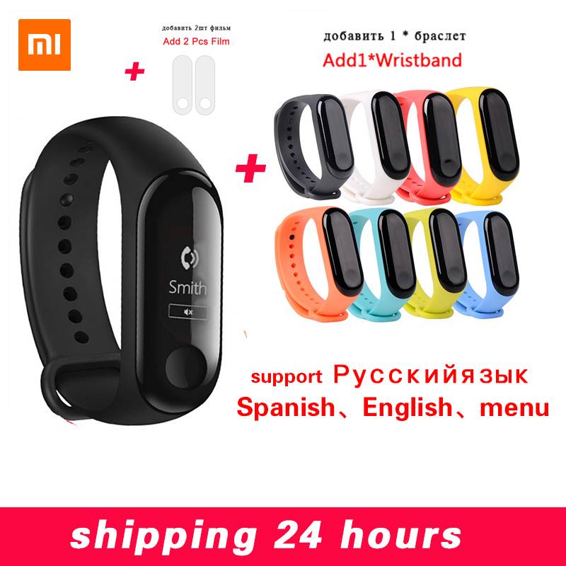 Xiaomi Mi Band 3 Miband 3 Fitness Tracker Heart Rate Monitor 0.78'' OLED Display Touchpad Bluetooth 4.2 For Android IOS