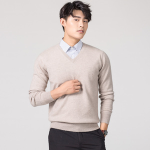 Image 5 - Man Pullovers Winter New Fashion Vneck Sweater Cashmere and Wool Knitted Jumpers Men Woolen Clothes Hot Sale Standard Male Tops